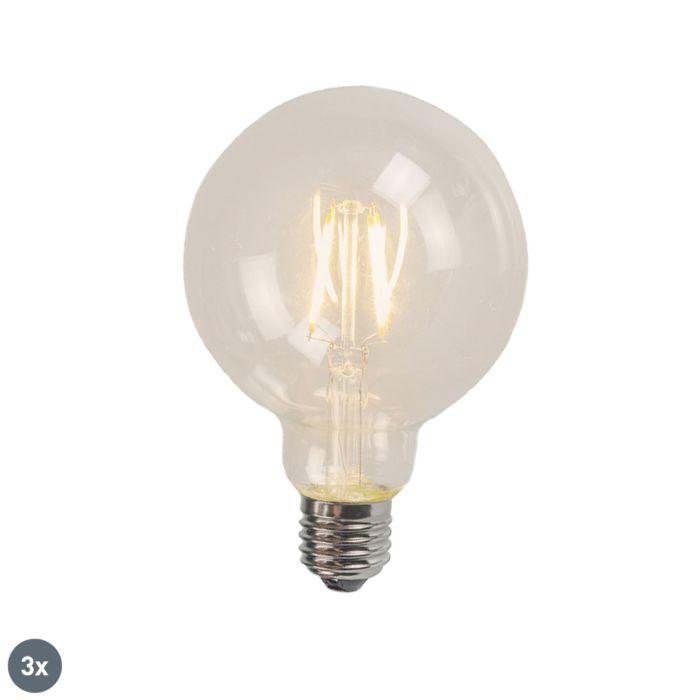 Set-van-3-E27-LED-filament-G125-4W-320-lm-2700K