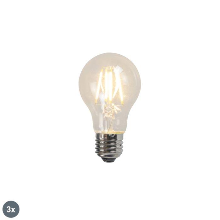 Filament-LED-lamp-A60-4W-2700K-helder-set-van-3