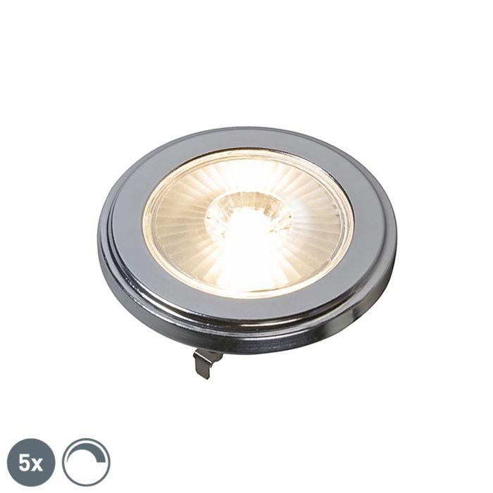 Set-van-5-G53-dimbare-AR111-LED-lamp-10W-800LM-3000K