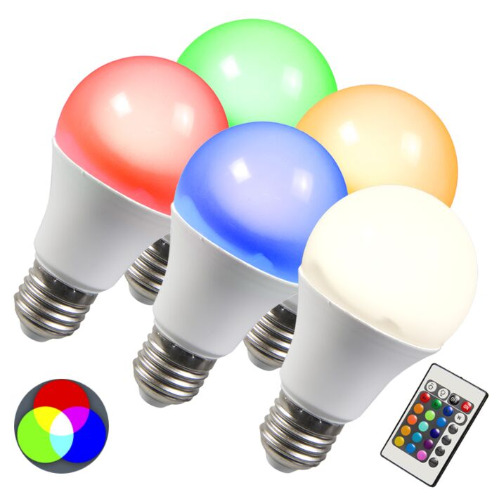 LED-lamp-RGB-E27-10W-extra-warm-wit-set-van-5