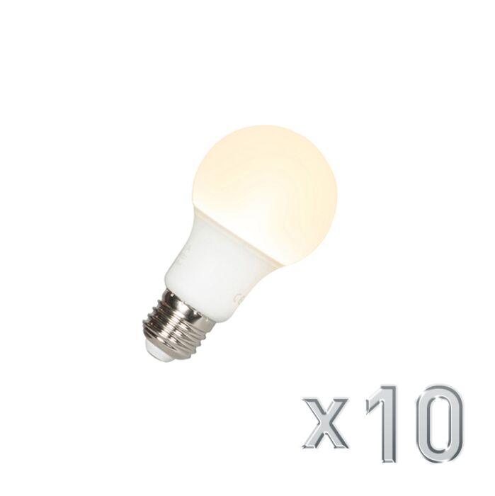 Set-van-10-LED-lamp-A60-E27-9W-3000K