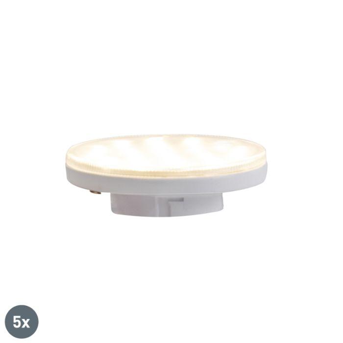 Set-van-5-GX53-3-staps-dimbare-LED-lampen-3W-350-lm-3000K