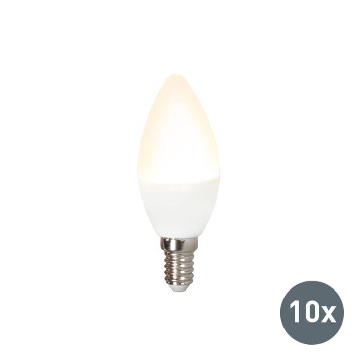 Set-van-10-LED-lamp-C37-E14-3W-3000K