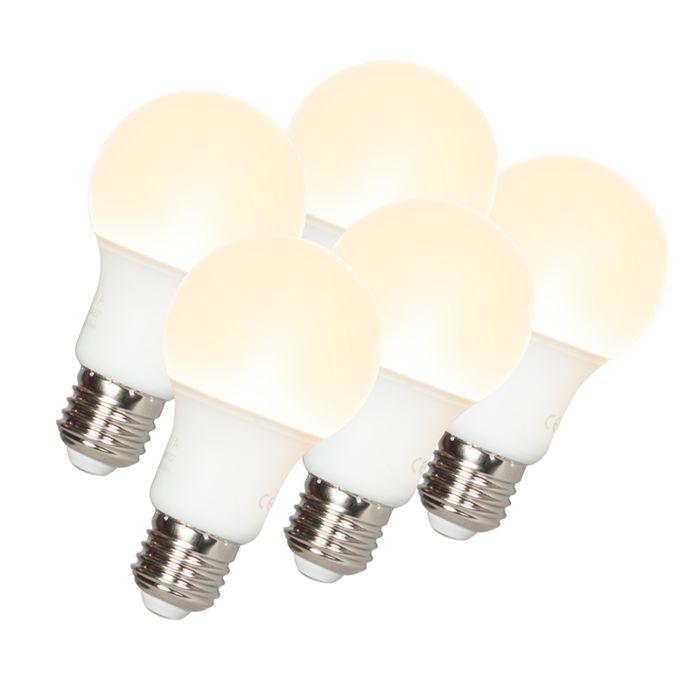 Set-van-5-LED-lamp-A60-E27-9W-3000K