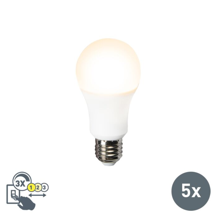 Set-van-5-LED-lamp-A60-12W-E27-3in1