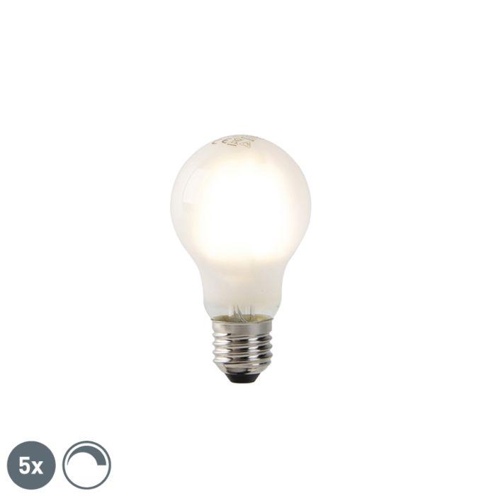 Set-van-5-dimbare-E27-LED-filament-lampen-mat-glas-320-lm-2700K