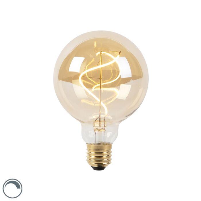 E27-dimbare-LED-spiraal-filament-lamp-G95-goldline-270lm-2100K