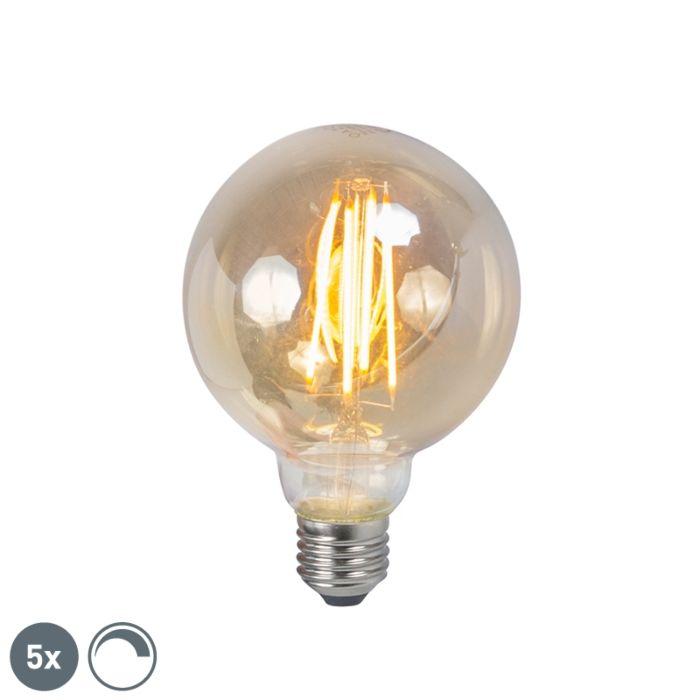 Set-van-5-E27-dimbare-LED-filament-smoke-lamp-5W-450lm-2200K