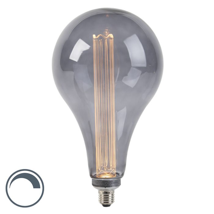 LED-lamp-A165-E27-3,5W-2000K-smoke-dimbaar