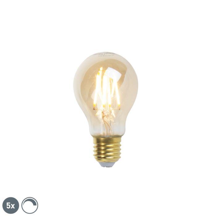 Set-van-5-E27-dimbare-LED-filament-lampen-goldline-360lm-2200K
