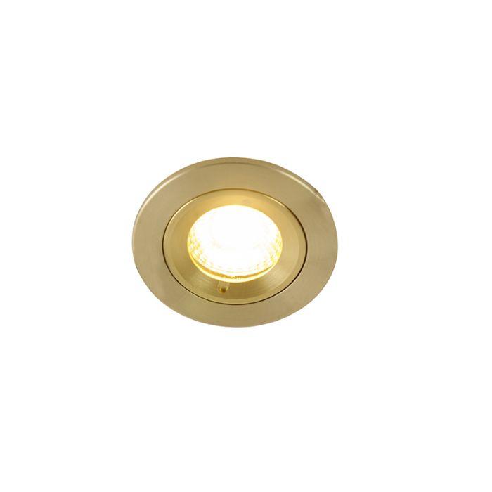 Moderne-inbouwspot-goud-IP44---Xena-Round