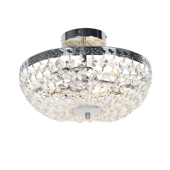 Klassieke-plafondlamp-chroom-met-kristal-3-lichts---Mondrian