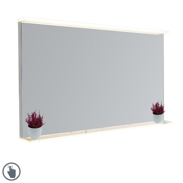 Badkamerspiegel-60x100-cm-incl.-LED-met-touch-dimmer-en-plateau---Miral