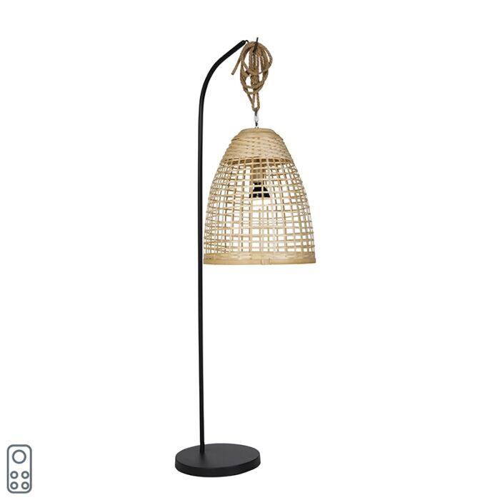 Buiten-vloerlamp-rotan-IP44-incl.-LED-RGBW---Mart-Maurice