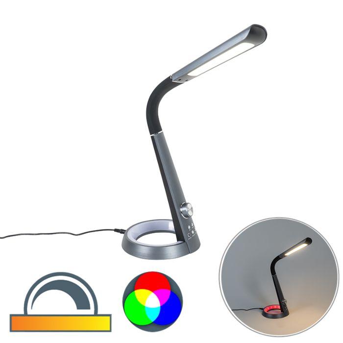 Design-tafellamp-zwart-incl.-LED-met-RGBW-en-USB---Manuel