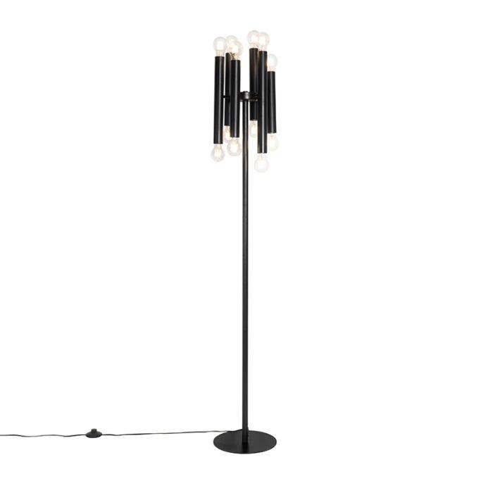 Art-Deco-vloerlamp-zwart-12-lichts---Facil