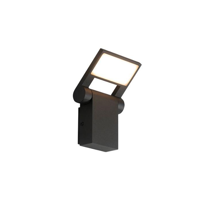 Buitenwandlamp-antraciet-incl.-LED-IP54-verstelbaar---Zane