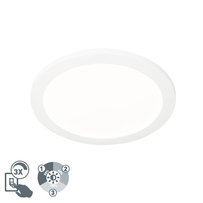 Plafonnière-wit-30-cm-incl.-LED-3-staps-dimbaar-IP44---Steve