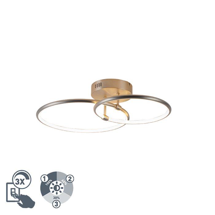 Design-plafondlamp-staal-incl.-LED-3-staps-dimbaar-2-lichts---Joaniqa