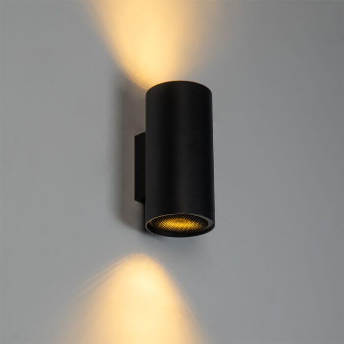 Design-wandlamp-zwart-rond---Sab-Honey