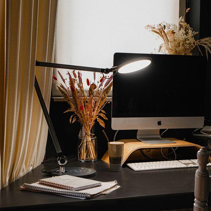 Design-tafellamp-grijs-incl.-LED-met-touch-en-draadloze-oplader---Don