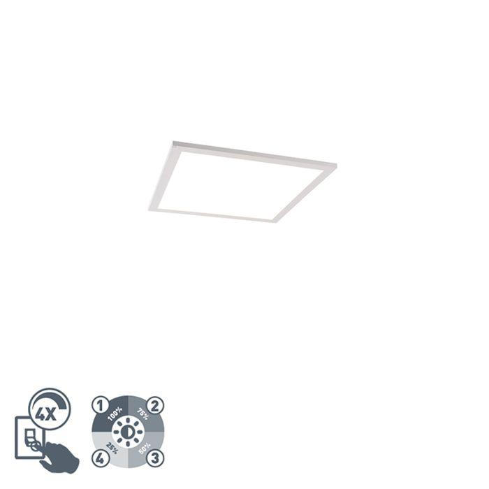 Modern-LED-paneel-wit-incl.-LED-en-dimmer-40-cm---Liv