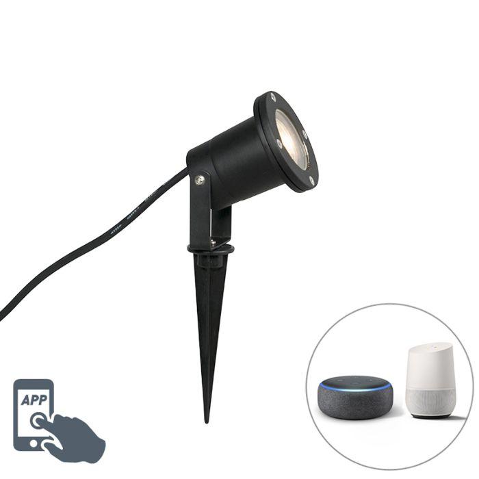 Smart-tuinspot-zwart-incl.-WiFi-GU10-IP65---Basic