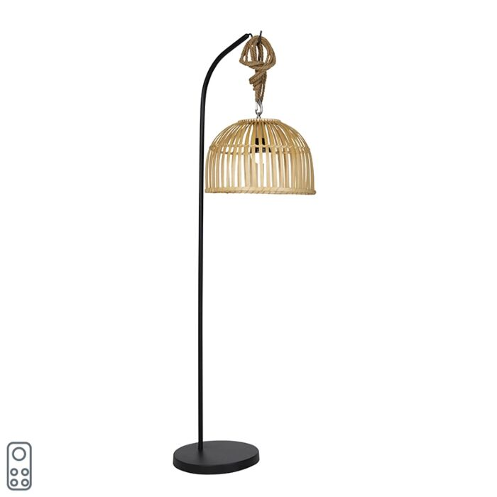 Buiten-vloerlamp-bamboe-IP44-incl.-LED-RGBW---Mart-Maurice