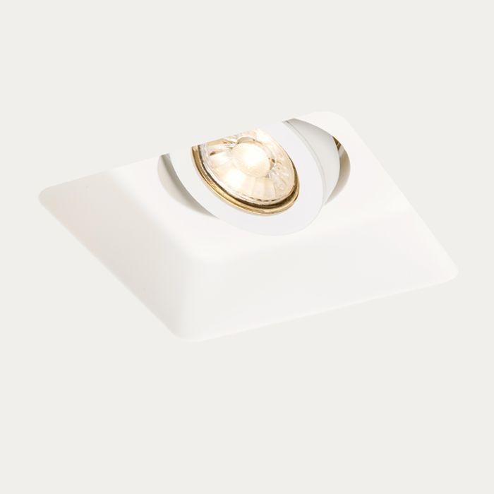 Inbouwspot-wit-15-cm-vierkant-kantelbaar---Gypsy-Stucco