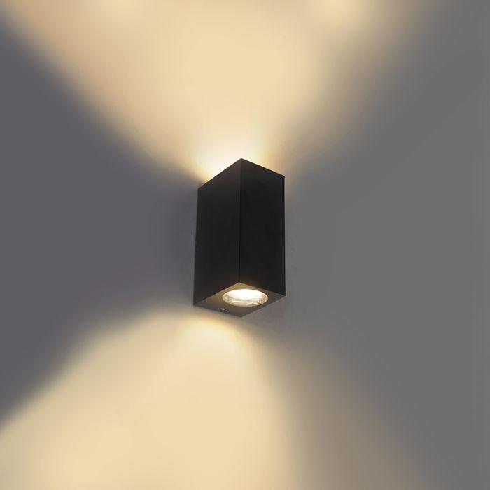 Moderne-wandlamp-zwart-van-kunststof---Baleno-II