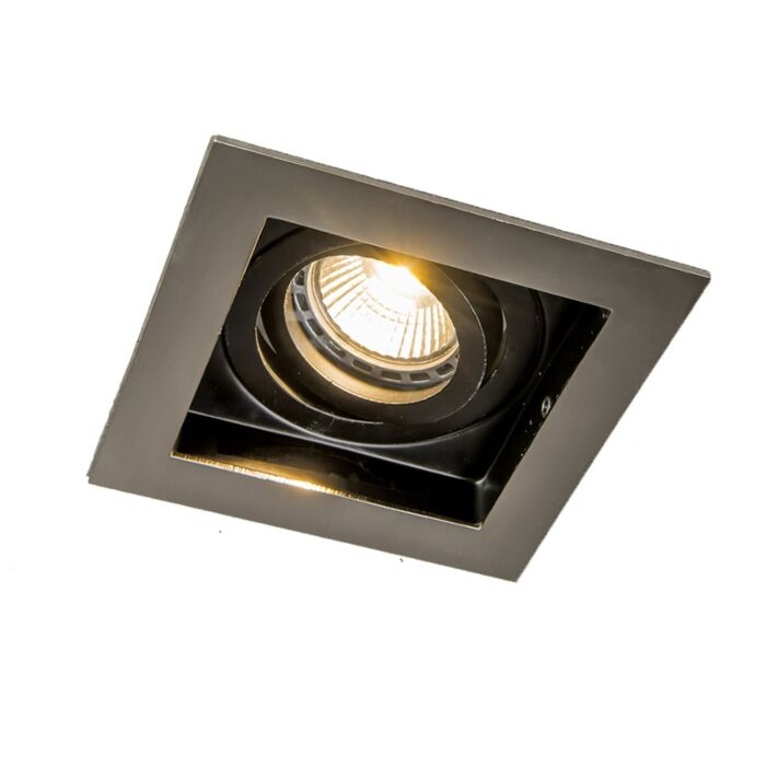 Smart-inbouwspot-staal-incl.-Wifi-GU10-lichtbron---Carree