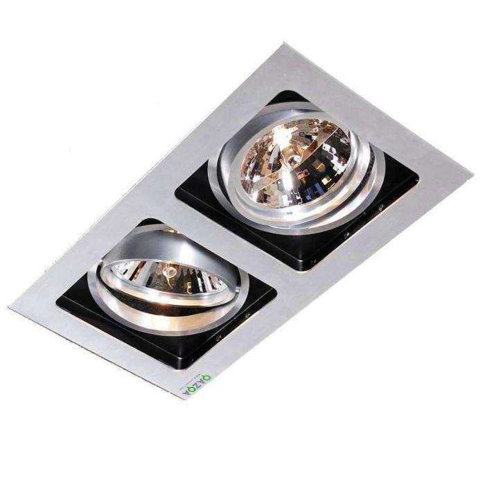 Inbouwspot-Qure-2-aluminium