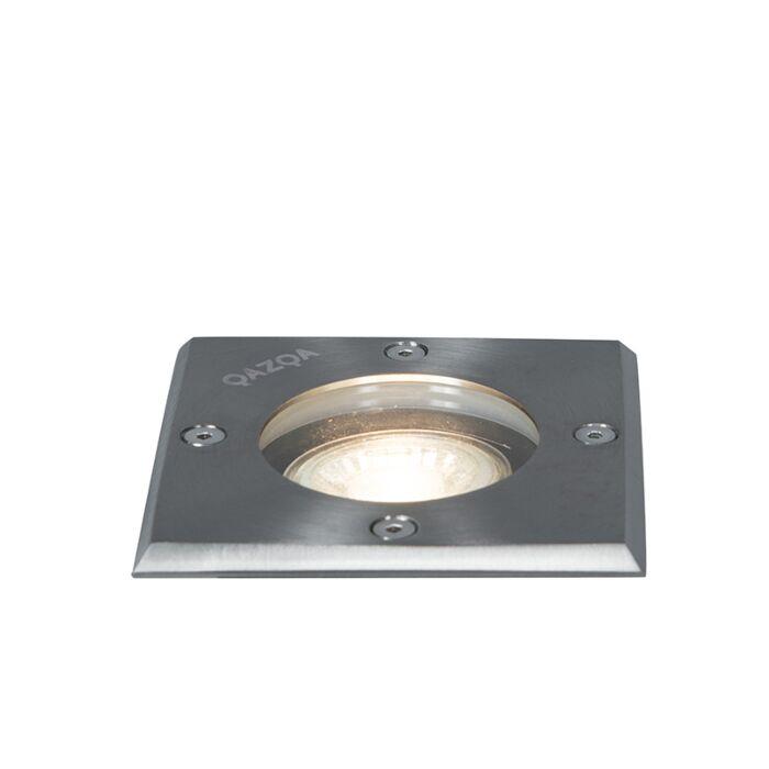 Grondspot-staal-10,5-cm-IP65---Basic-Square