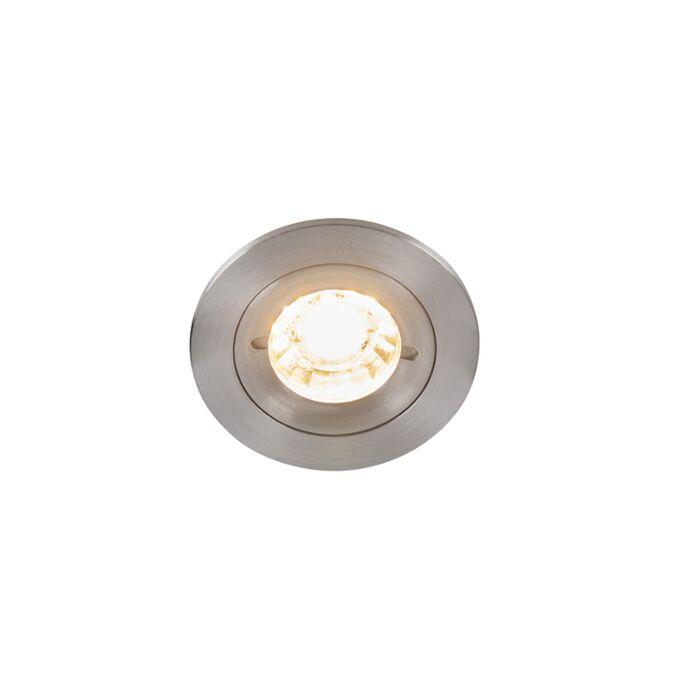 Moderne-inbouwspot-staal-IP44---Xena-Round