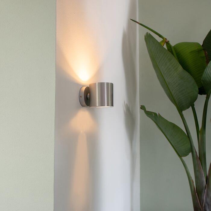 Moderne-wandlamp-aluminium-rond---Effect