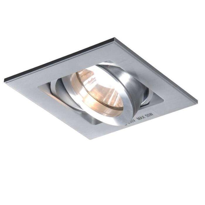 Inbouwspot-Quadro-1-aluminium