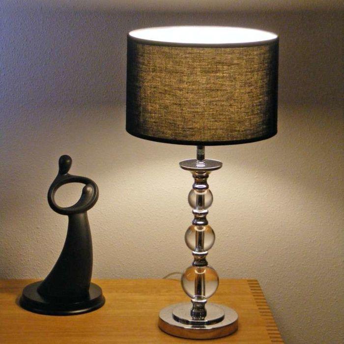 Tafellamp-Calabash-chroom-met-zwarte-kap