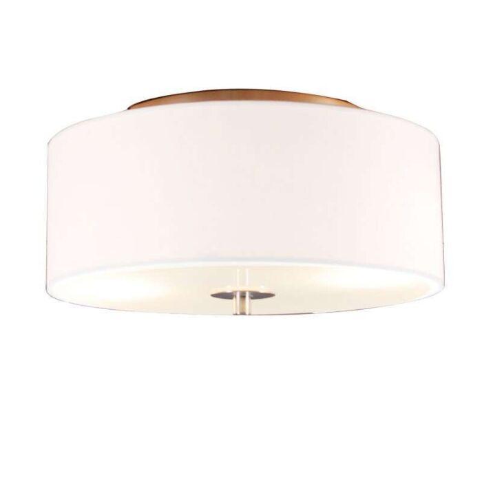 Landelijke-plafondlamp-wit-30-cm---Drum