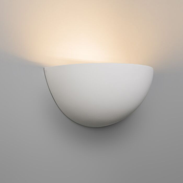 Moderne-wandlamp-wit-gips---Gipsy