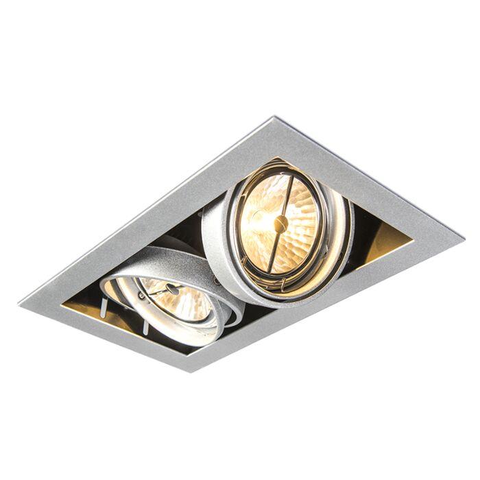 Inbouwspot-staal-AR111-verstelbaar-2-lichts---Oneon