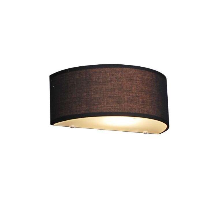 Landelijke-wandlamp-half-rond-zwart---Drum