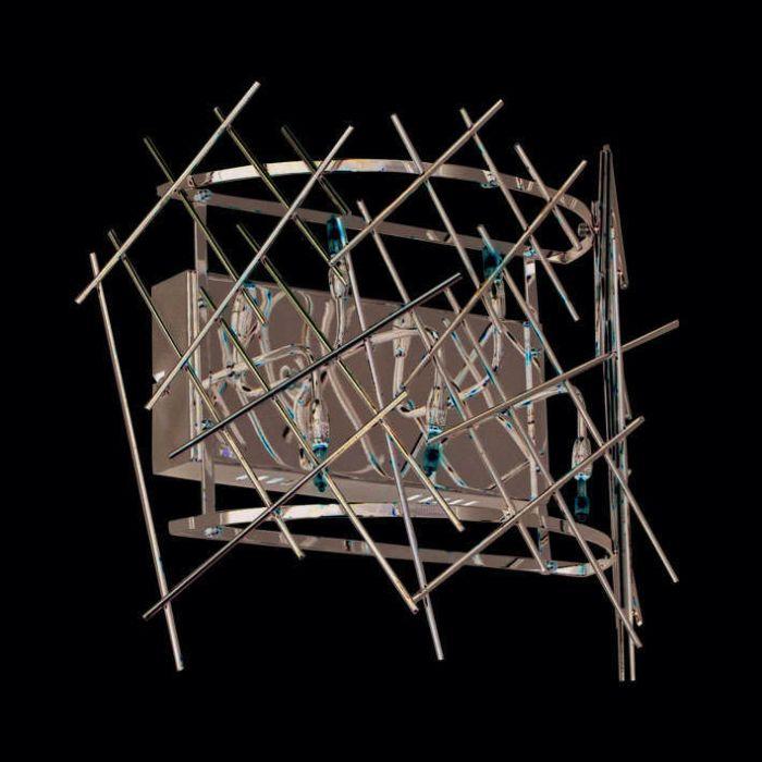 Wandlamp-Forest-5-chroom