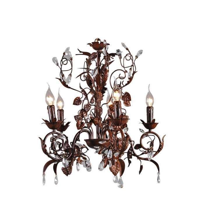 Kroonluchter-Romance-5-lichts-antiek-bruin