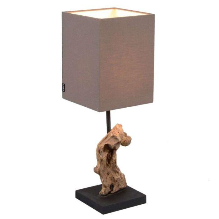 Tafellamp-Vamida-met-bruine-kap