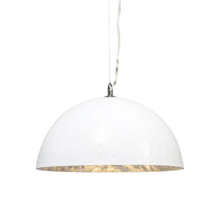 Hanglamp-Magna-40-wit---zilver