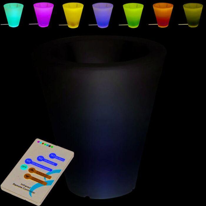 Verlichte-bloempot-Flower-40cm-LED