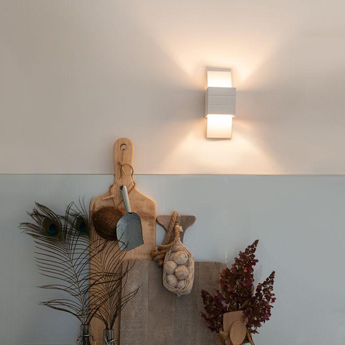 Moderne-wandlamp-wit---Amy