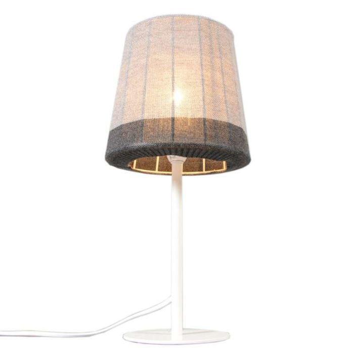 Tafellamp-Maglia-wit-met-grijs