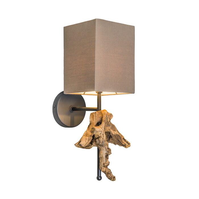 Wandlamp-Suchin-naturel-met-bruine-kap