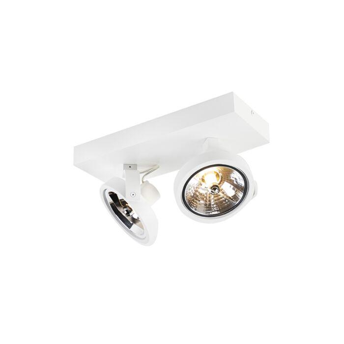 Design-spot-wit-verstelbaar-2-lichts-incl.-2-x-G9---Go